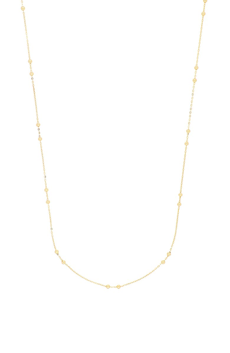 BONY LEVY 14K Gold Beaded Station Necklace, Main, color, YELLOW GOLD