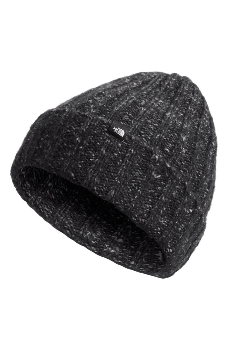 THE NORTH FACE Chunky Ribbed Beanie, Main, color, TNF BLACK