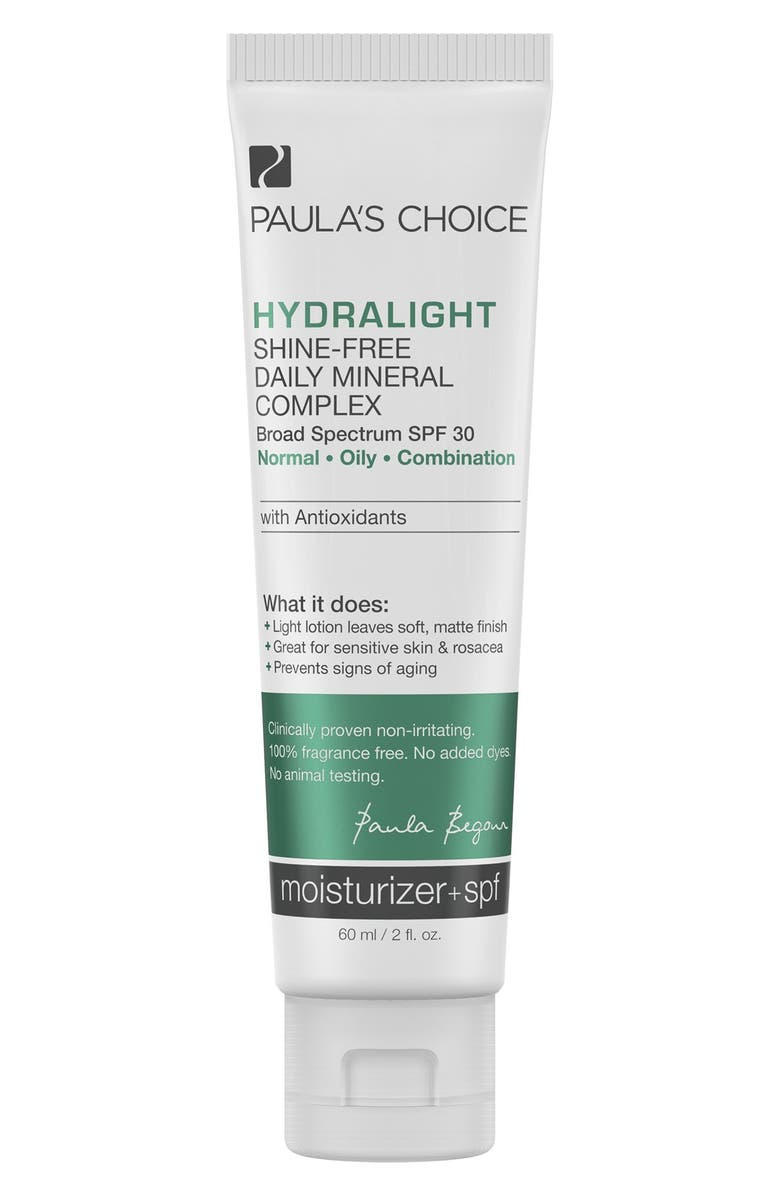 PAULA'S CHOICE 'Hydralight' Shine-Free Daily Mineral Complex SPF 30, Main, color, No Color