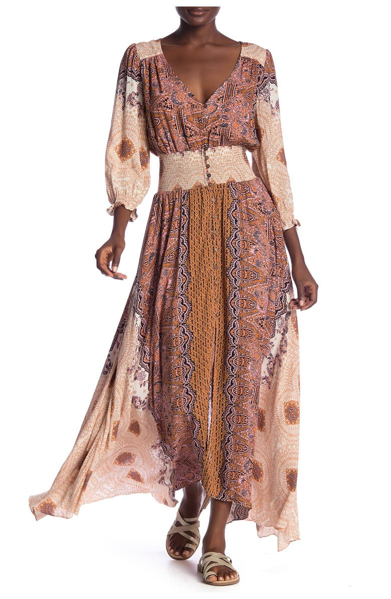 FREE PEOPLE Mexicali Rose Maxi Dress, Main, color, 103
