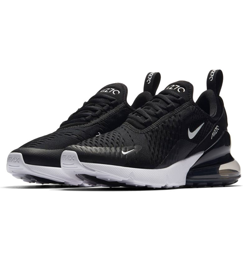 NIKE Air Max 270 Premium Sneaker, Main, color, BLACK/ ANTHRACITE/ WHITE
