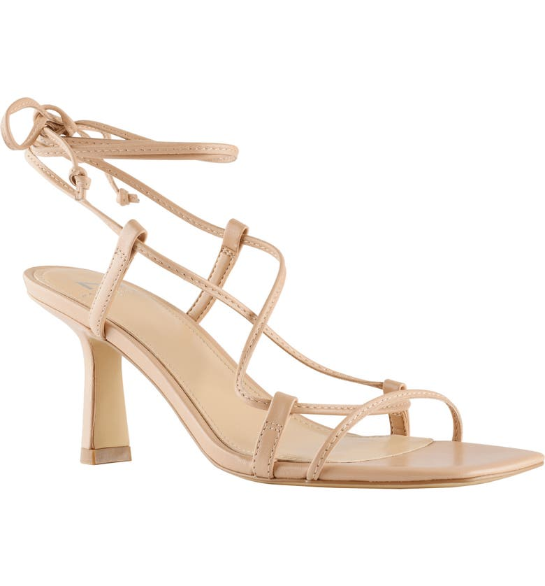 MARC FISHER LTD Nollyn Strappy Sandal, Main, color, LIGHT NATURAL LEATHER