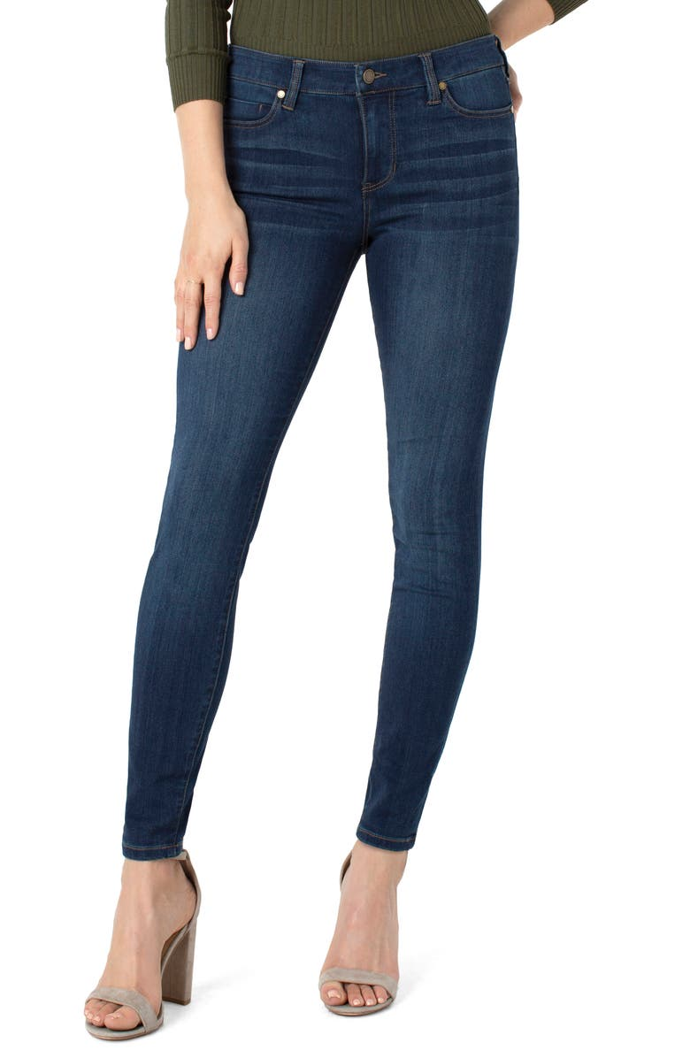 LIVERPOOL Abby Skinny Jeans, Main, color, SAN ANDREAS DARK