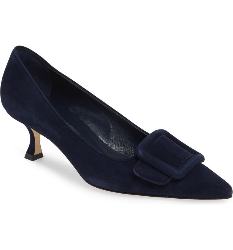 MANOLO BLAHNIK Maysale Buckle Pointed Toe Pump, Main, color, 410