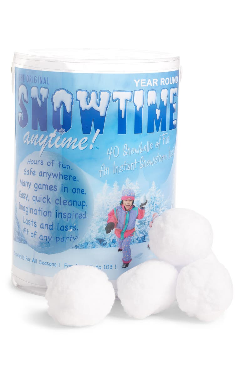 INDOOR SNOWBALL FIGHT Snowtime Anytime 40-Pack Snowballs, Main, color, White