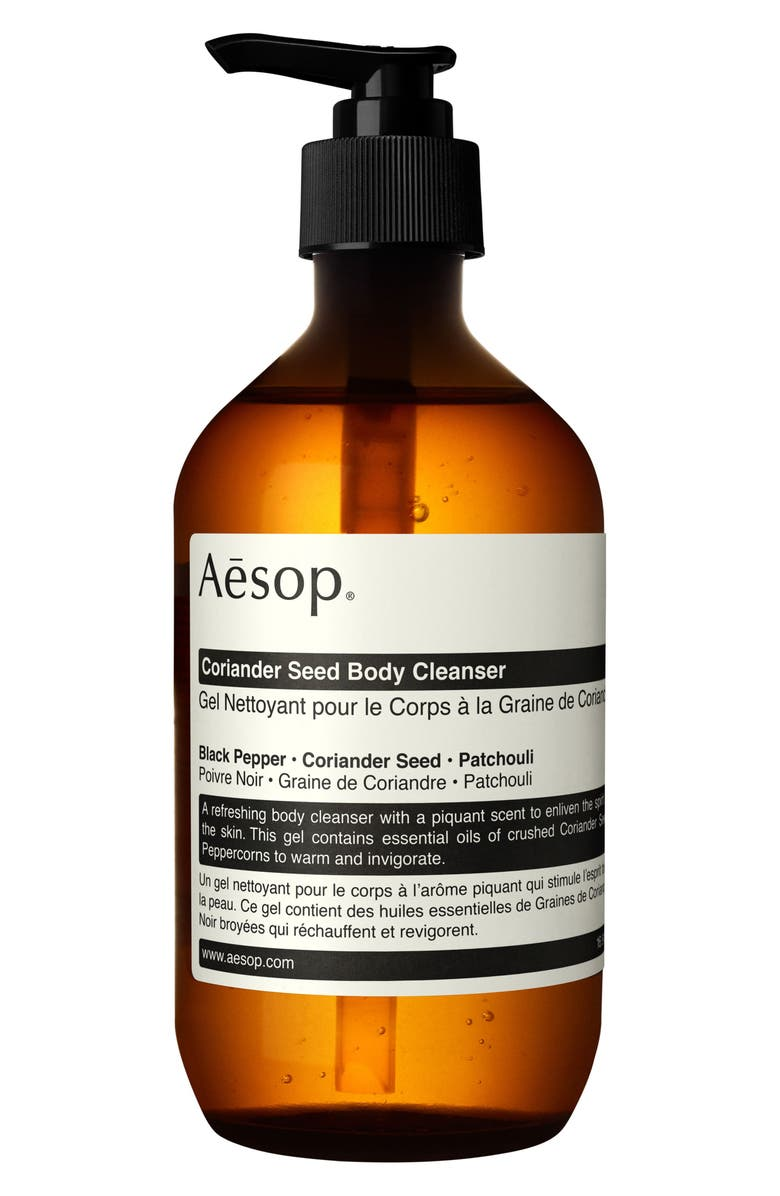 AESOP Coriander Seed Body Cleanser, Main, color, PUMP
