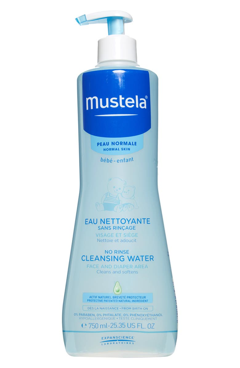 MUSTELA<SUP>®</SUP> No-Rinse Cleansing Water, Main, color, WHITE