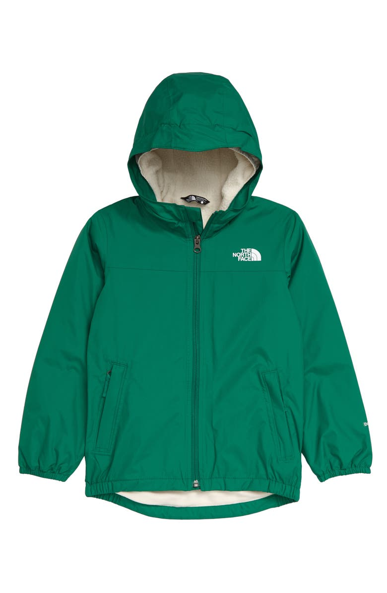 THE NORTH FACE Kids' Warm Storm Waterproof Hooded Jacket, Main, color, PRIMARY GREEN/COSMIC BLUE