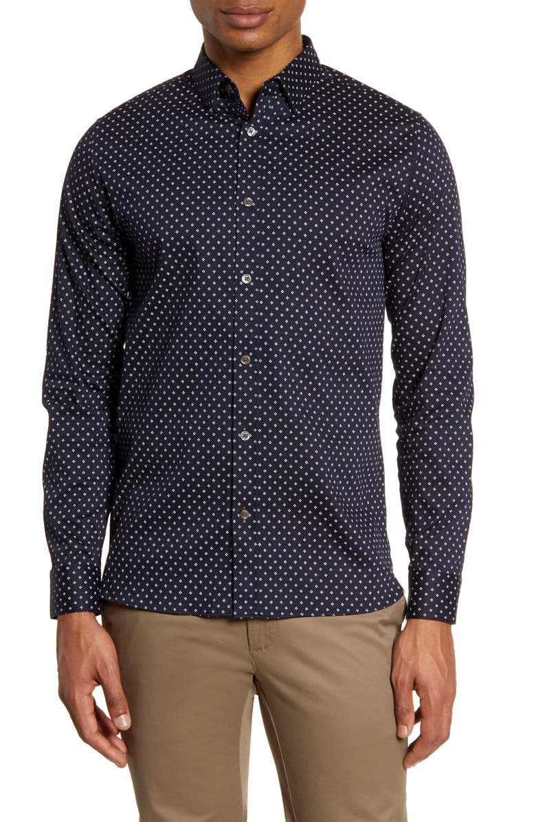 TED BAKER LONDON Noreep Button-Up Shirt, Main, color, 410