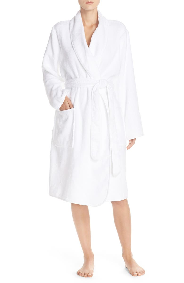 NAKED Terry Cotton Robe, Main, color, White