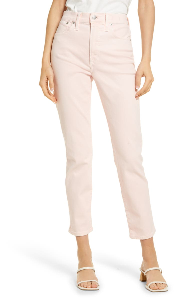 MADEWELL The Perfect Vintage Garment Dyed Jeans, Main, color, BABY ROSEBUDS ROSE PETAL