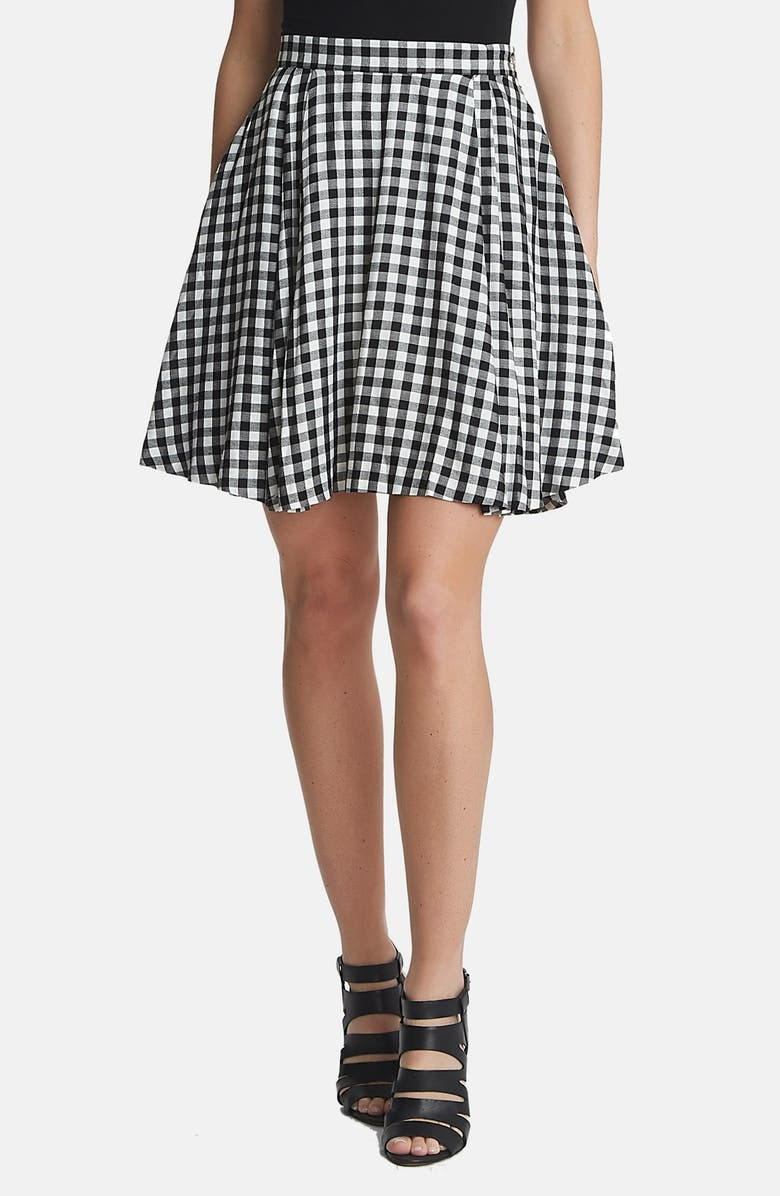 1.STATE Gingham A-Line Skirt, Main, color, 010