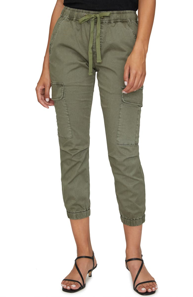 SANCTUARY Squad Crop Stretch Cotton Joggers, Main, color, FATIGUE