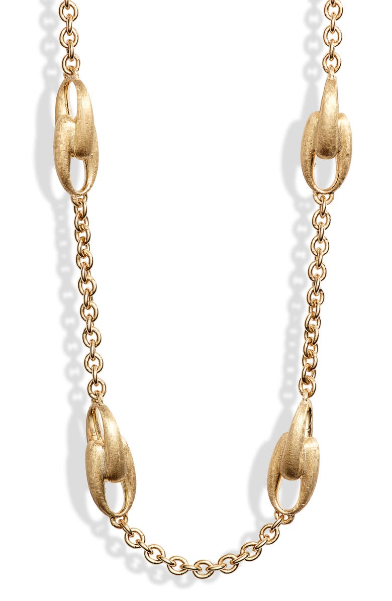 MARCO BICEGO Lucia Link Collar Necklace, Main, color, YELLOW GOLD