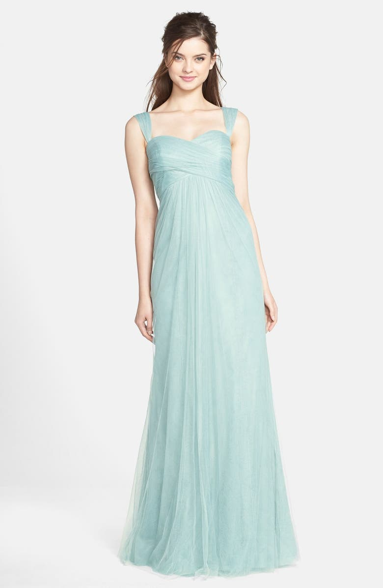 JENNY YOO Willow Convertible Tulle Gown, Main, color, 455