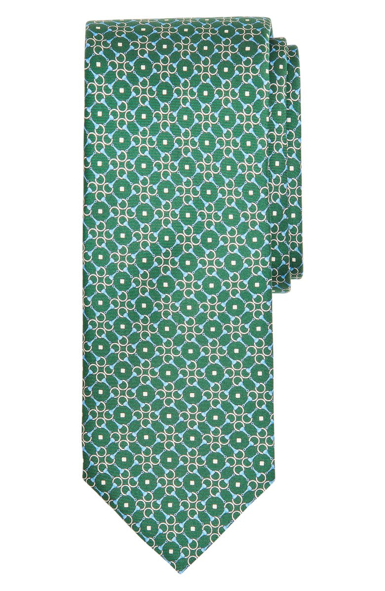 BROOKS BROTHERS Geometric Rings Silk Tie, Main, color, 300