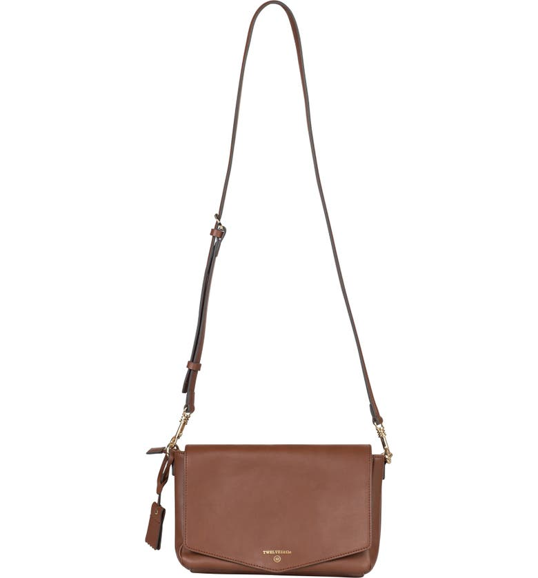 TWELVELITTLE Peekaboo Crossbody Diaper Bag, Main, color, TOFFEE
