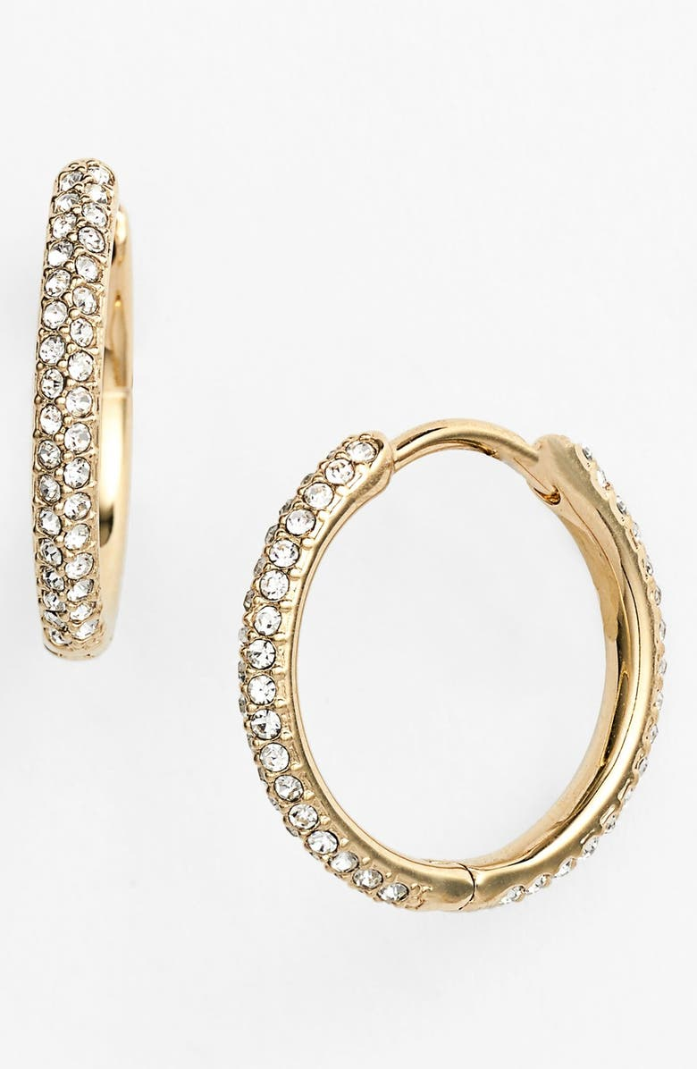 NADRI Small Pavé Hoop Earrings, Main, color, 710