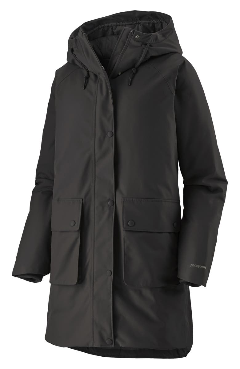 PATAGONIA Great Falls Insulated Hooded Parka, Main, color, BLK BLACK
