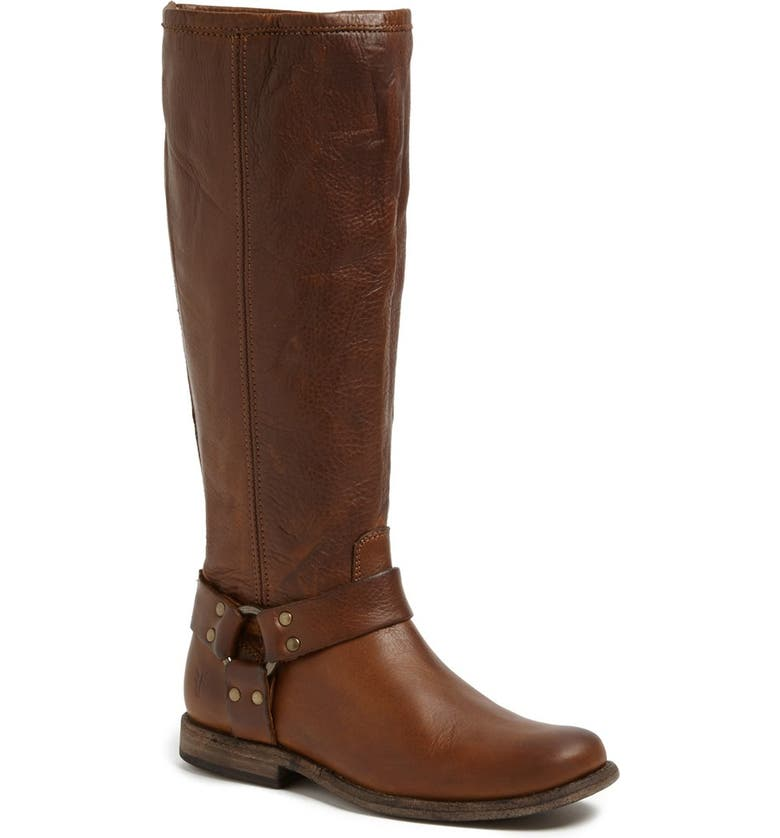 FRYE 'Phillip Harness' Tall Washed Leather Riding Boot, Main, color, 288