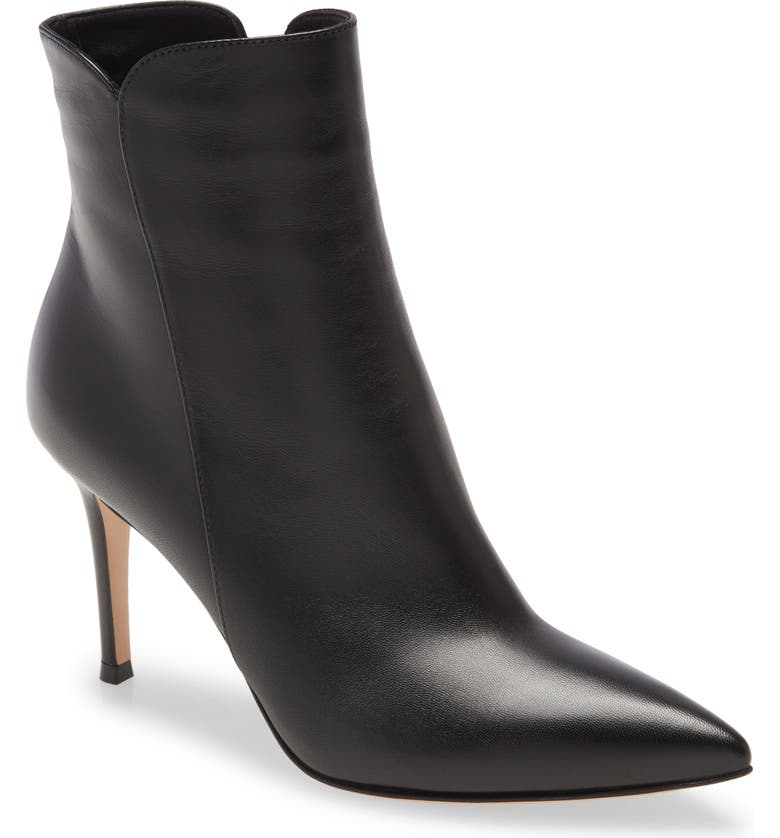 GIANVITO ROSSI Pointy Toe Bootie, Main, color, Black
