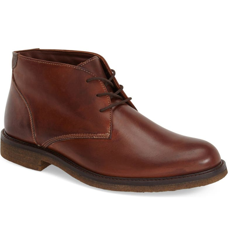 JOHNSTON & MURPHY 'Copeland' Suede Chukka Boot, Main, color, BROWN LEATHER