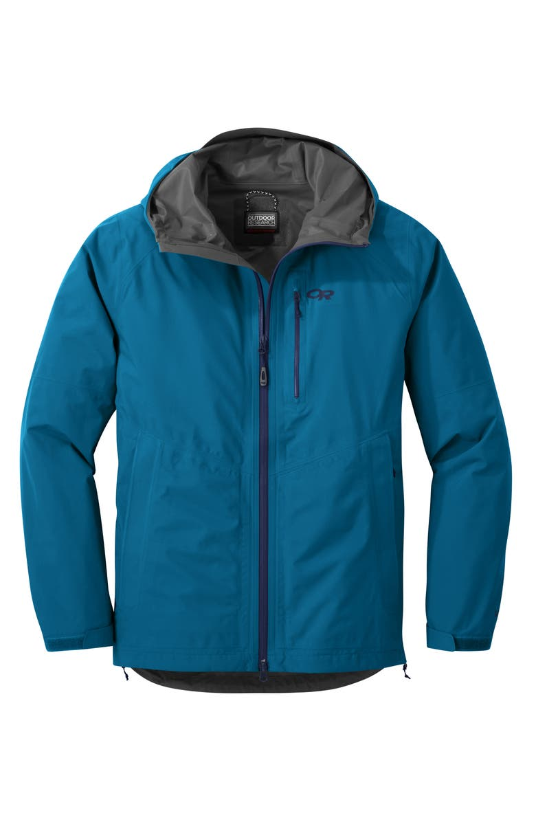 OUTDOOR RESEARCH Men's Foray Gore-Tex<sup>®</sup> Waterproof Hooded Jacket, Main, color, CASCADE