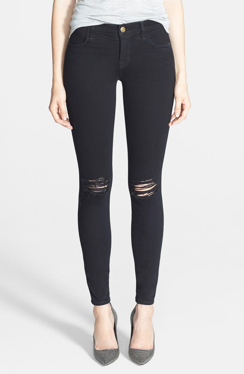 J BRAND Mid-Rise Skinny Jeans, Main, color, 001