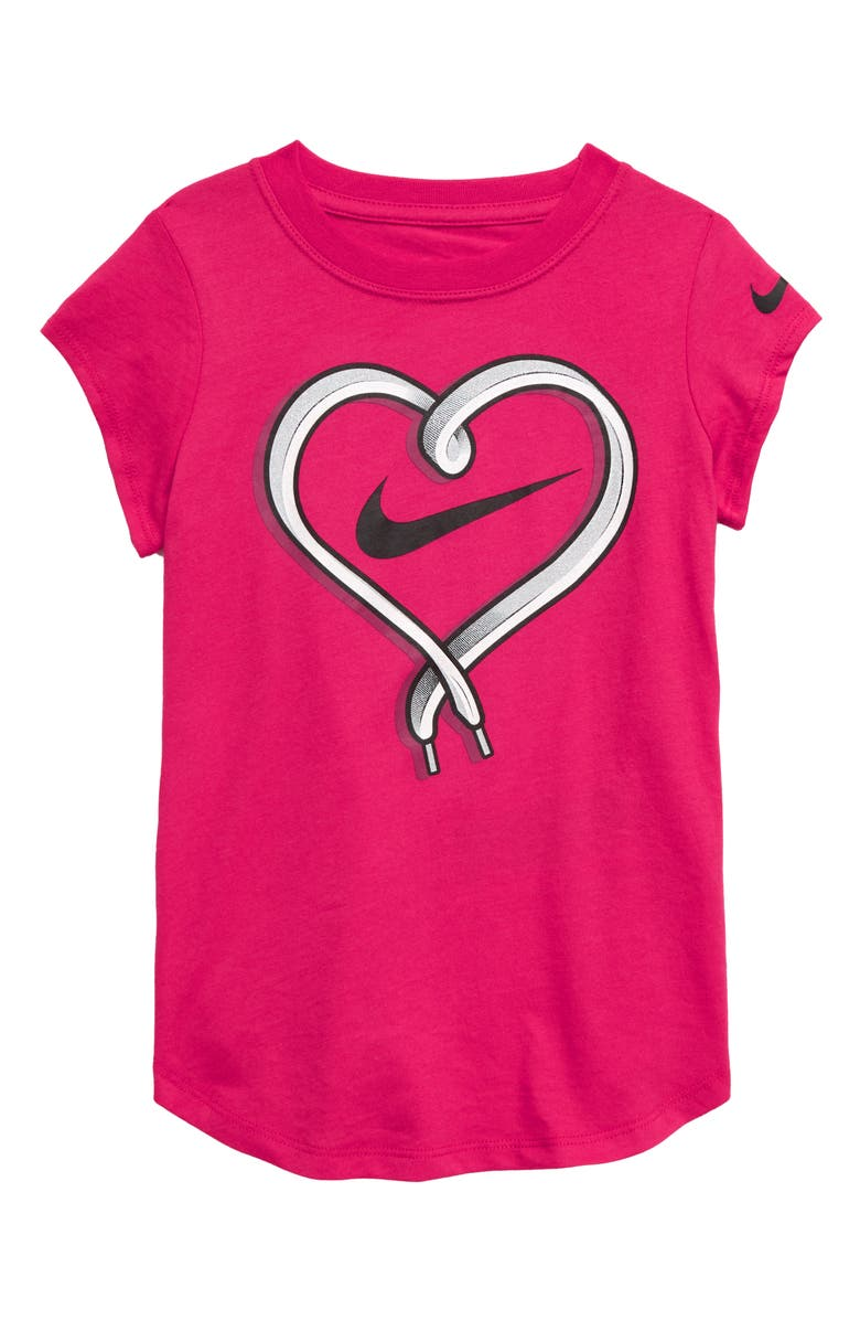 NIKE Heart Lace Tee, Main, color, 672
