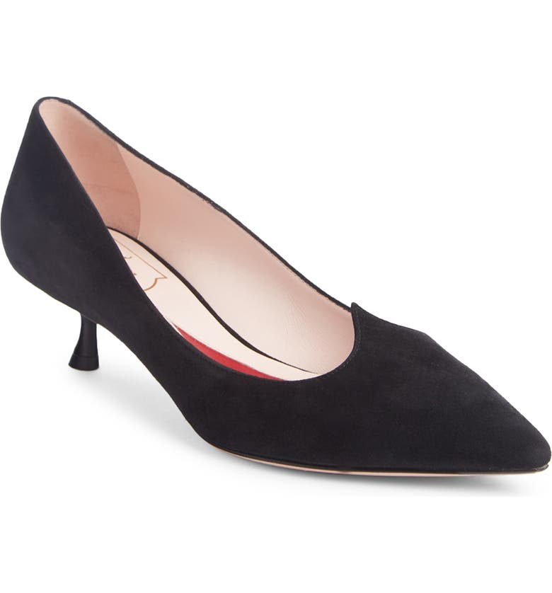 ROGER VIVIER I Love Vivier Pointed Toe Pump, Main, color, Black