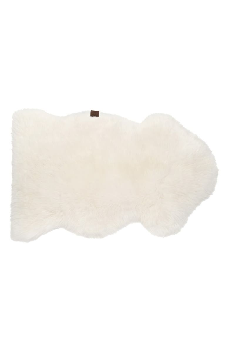 UGG<SUP>®</SUP> Genuine Shearling Rug, Main, color, NATURAL