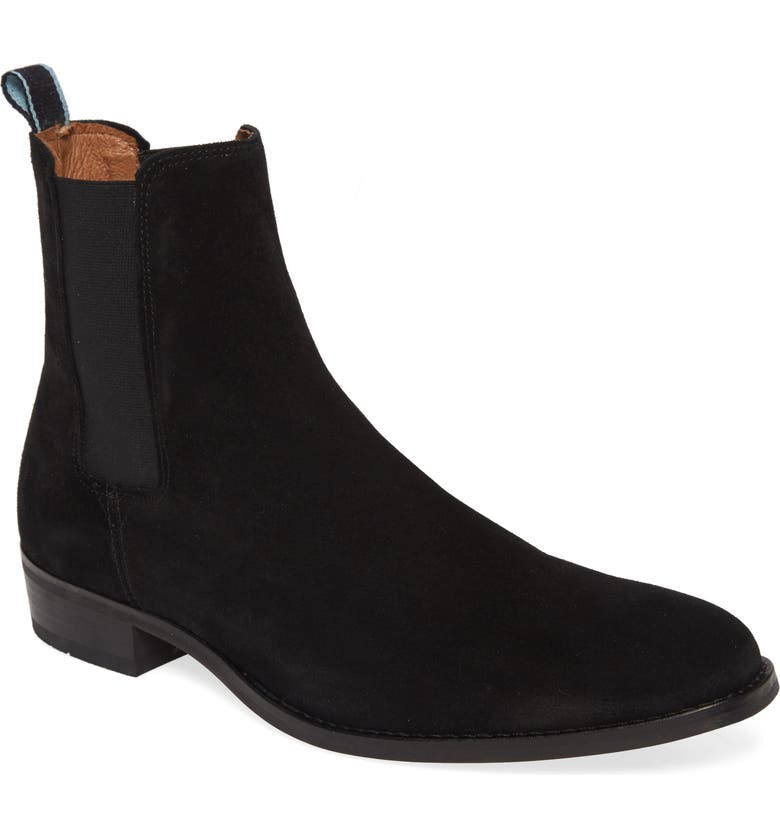 SHOE THE BEAR Eli Chelsea Boot, Main, color, BLACK SUEDE