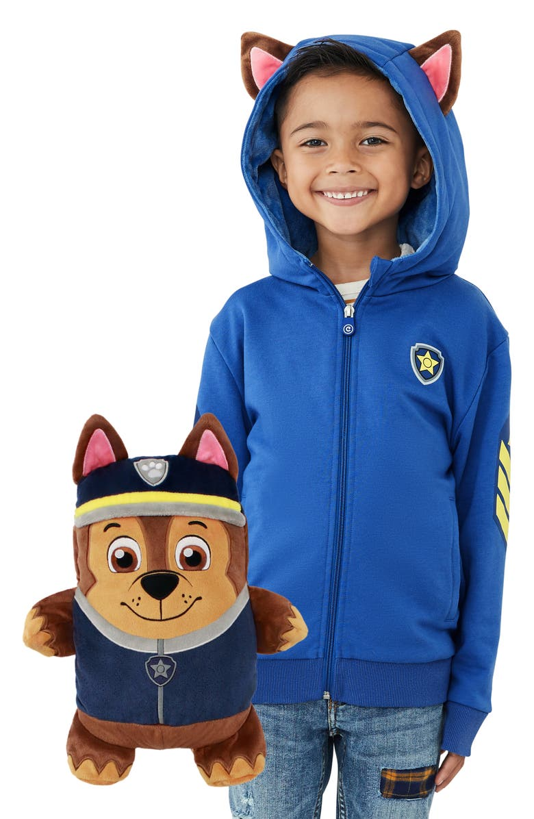 CUBCOATS x Nickelodeon<sup>®</sup> PAW Patrol<sup>™</sup> Chase 2-in-1 Stuffed Animal Hoodie, Main, color, 410