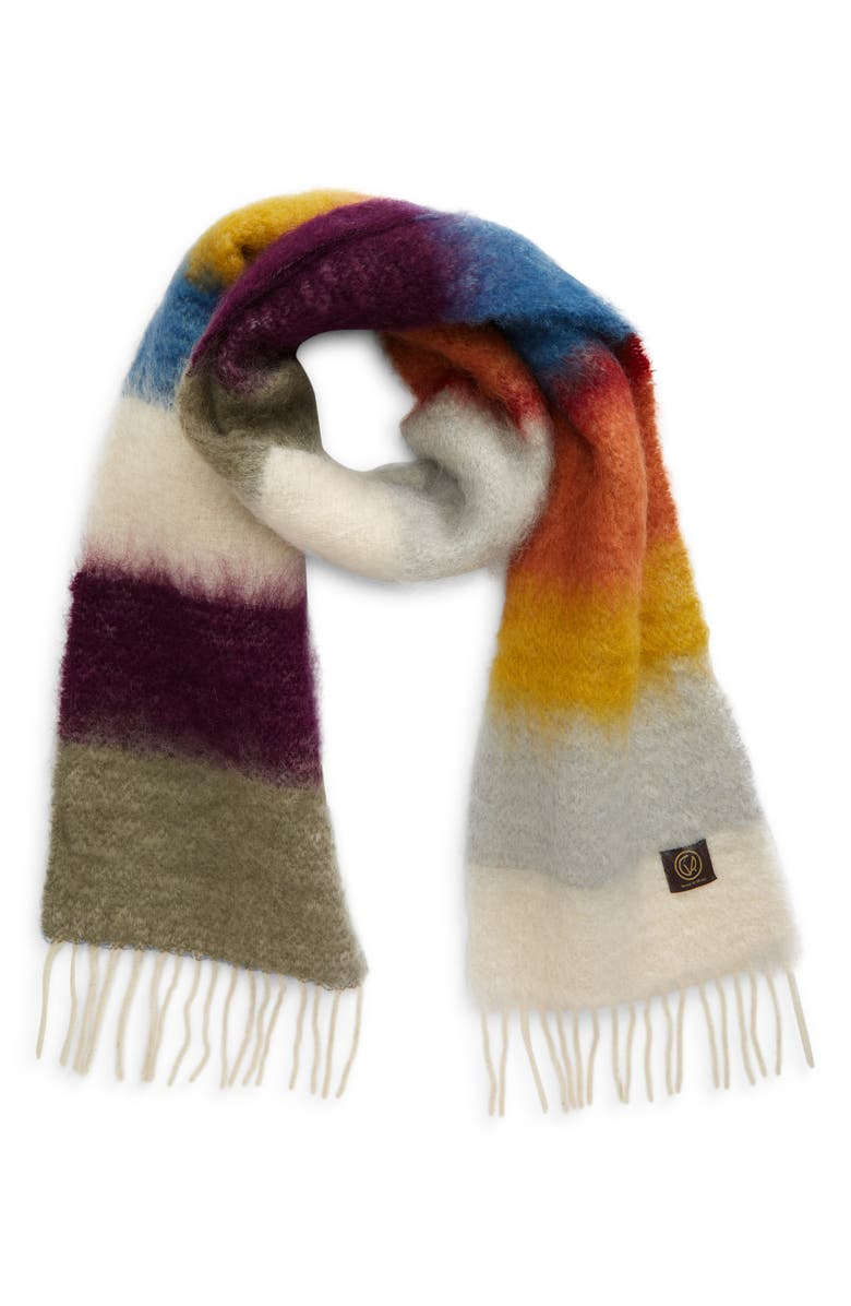 GOODEE x Ezcaray Matisse Stripe Mohair & Wool Scarf, Main, color, MULTICOLOR
