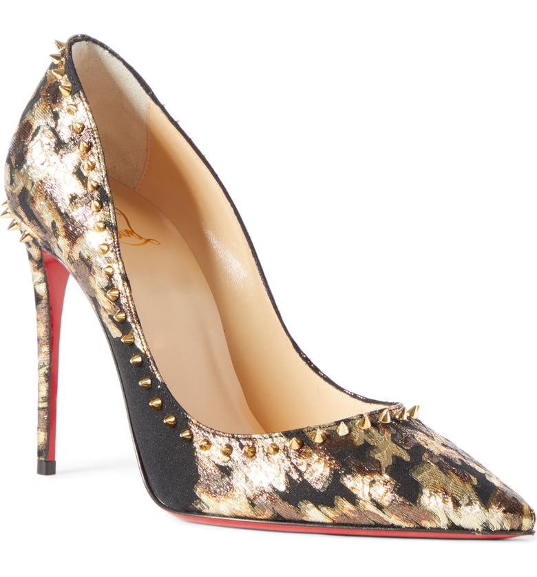 CHRISTIAN LOUBOUTIN Anjalina Spike Metallic Pointed Toe Pump, Main, color, 710