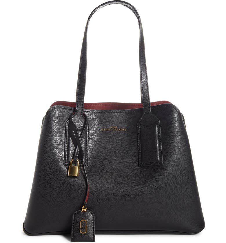 THE MARC JACOBS The Editor Leather Tote, Main, color, 001