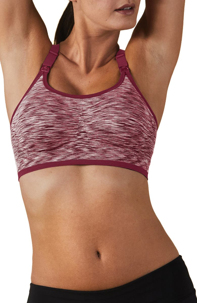 BRAVADO DESIGNS Body Silk Seamless Rhythm Nursing Sports Bra, Main, color, ROSEWATER SPACEDYE