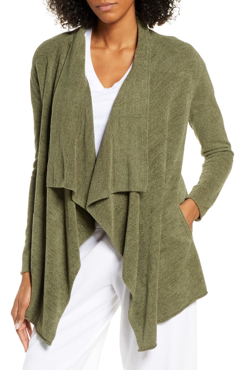 BAREFOOT DREAMS<SUP>®</SUP> CozyChic<sup>™</sup> Ultra Lite High/Low Cardigan, Main, color, OLIVE