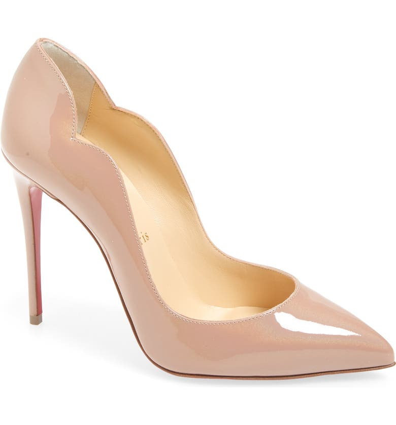 CHRISTIAN LOUBOUTIN Hot Chick Scalloped Pointed Toe Pump, Main, color, 252