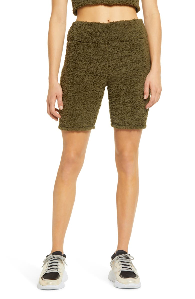 BP. Cozy Bike Shorts, Main, color, OLIVE NIGHT