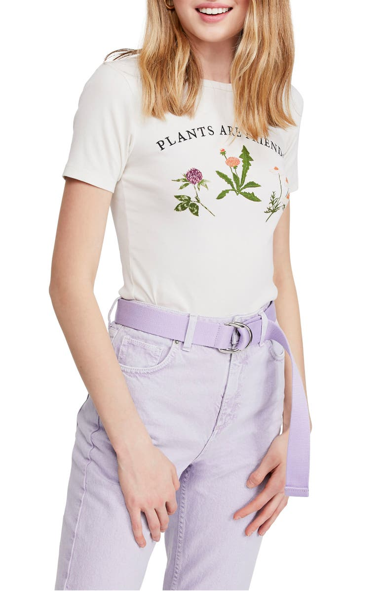 BDG URBAN OUTFITTERS Plants Are Friends Graphic Baby Tee, Main, color, 100
