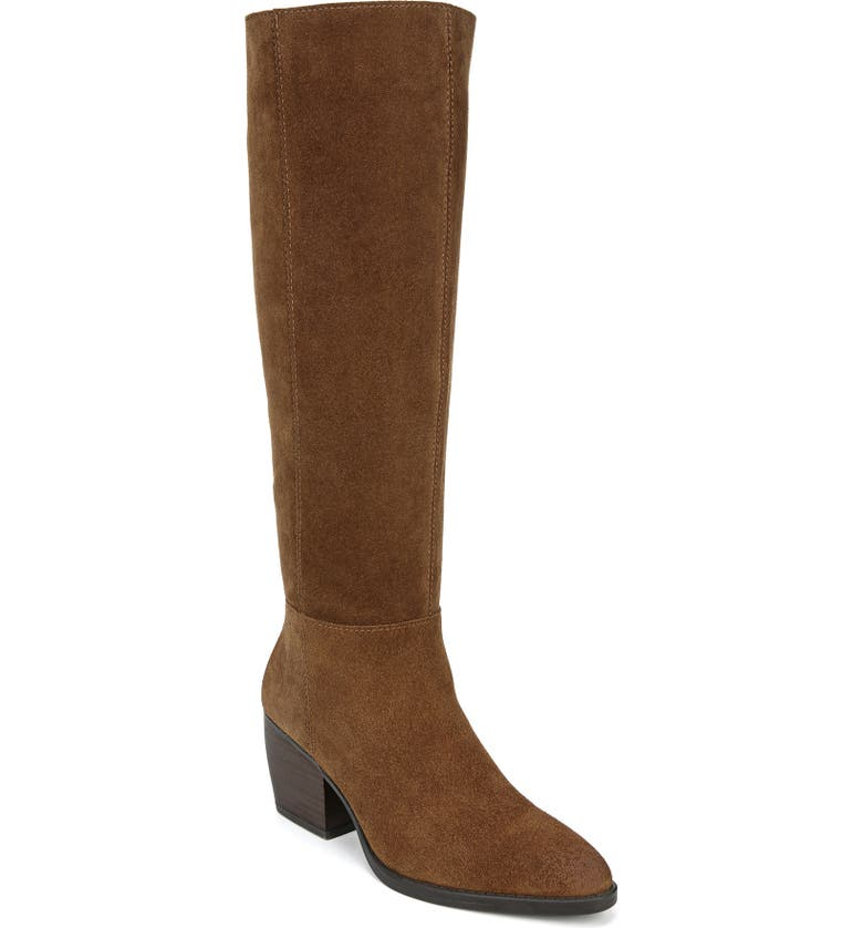 NATURALIZER Fae Tall Boot, Main, color, SADDLE TAN SUEDE