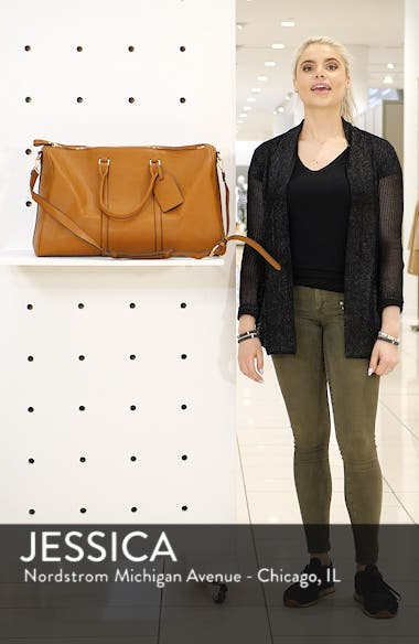 Lacie Faux Leather Duffle Bag, sales video thumbnail