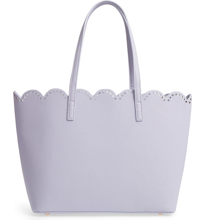 BP. Scalloped Faux Leather Tote, Main, color, 500