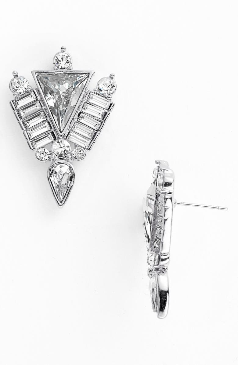 VINCE CAMUTO 'Crystal Clear' Stud Earrings, Main, color, 040