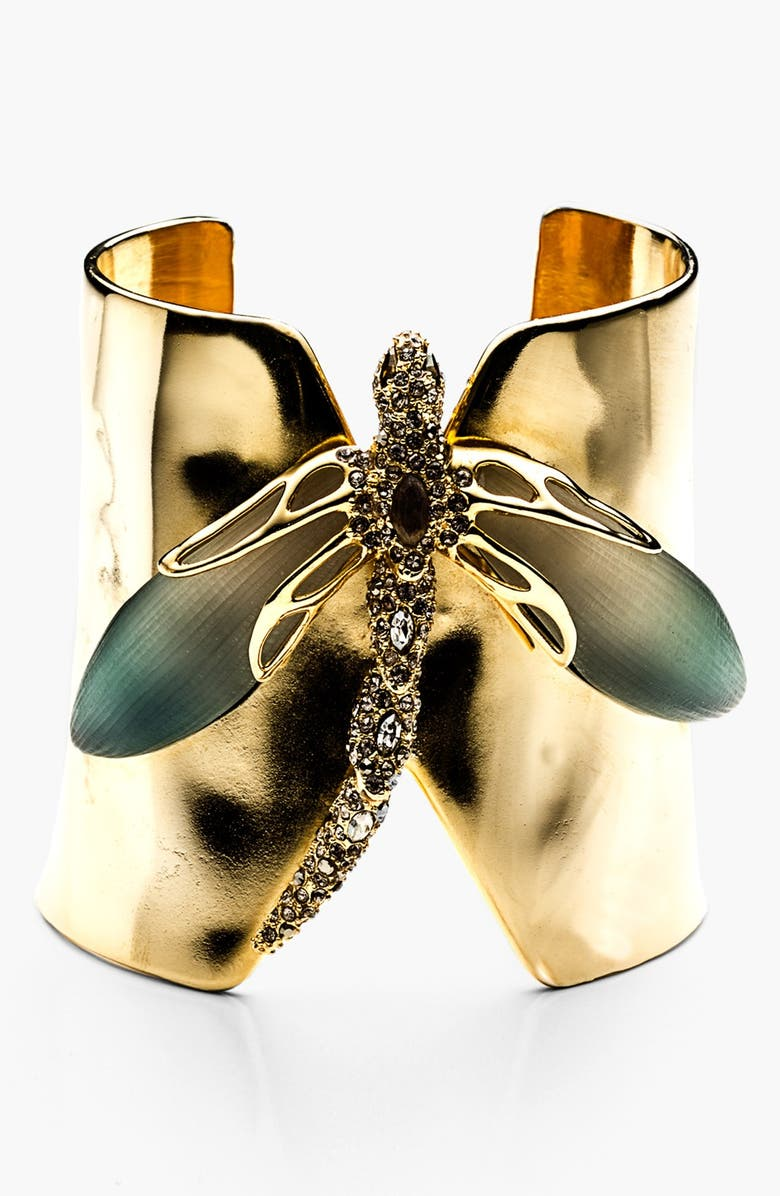 ALEXIS BITTAR 'Lucite<sup>®</sup> - Neo Bohemian' Dragonfly Cuff Bracelet, Main, color, 300