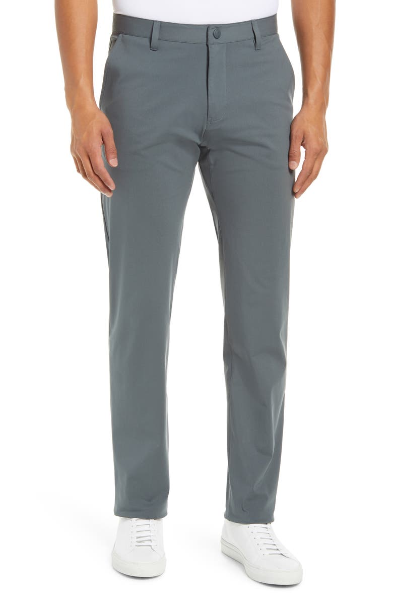 RHONE Commuter Straight Fit Pants, Main, color, NEPHRITE