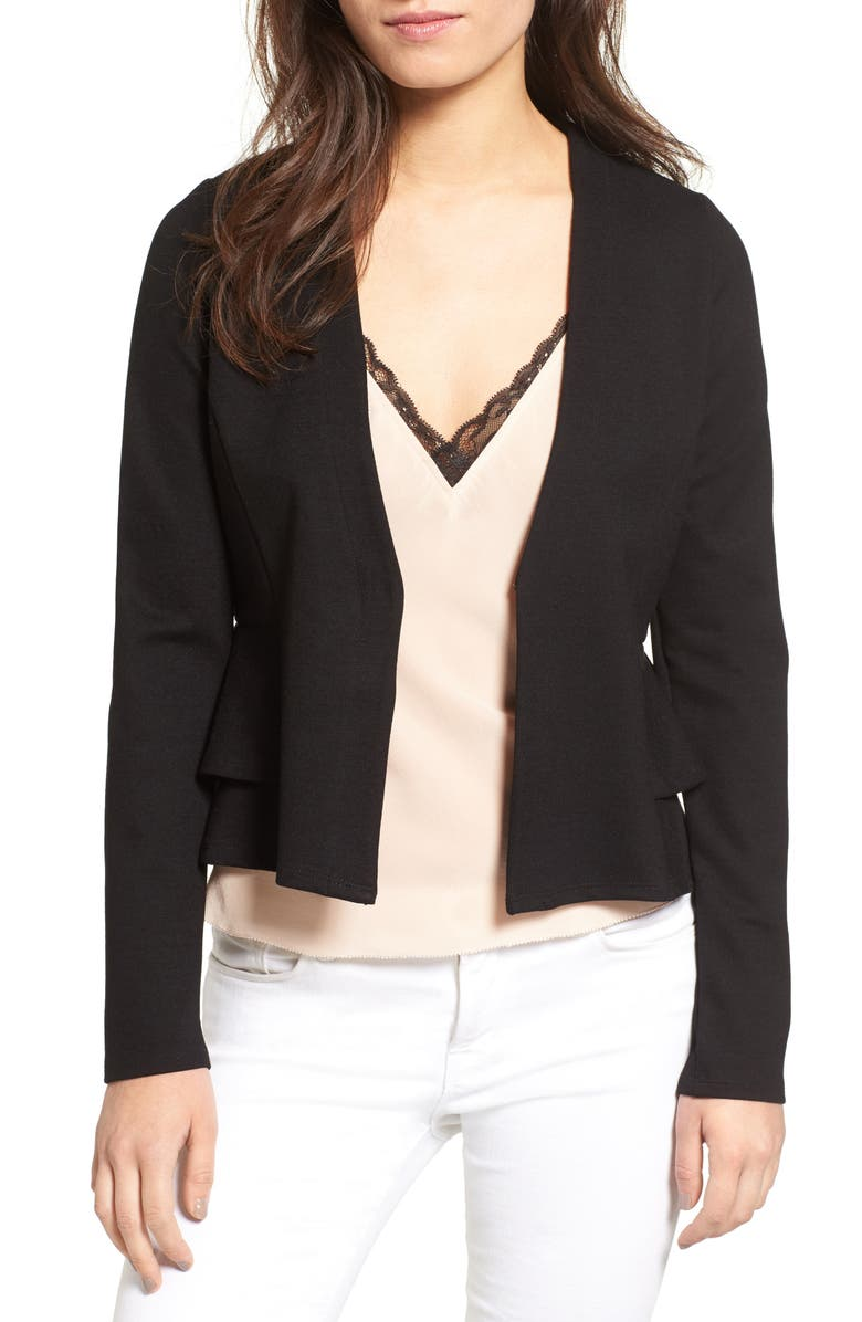 GUEST EDITOR Peplum Jacket, Main, color, 001