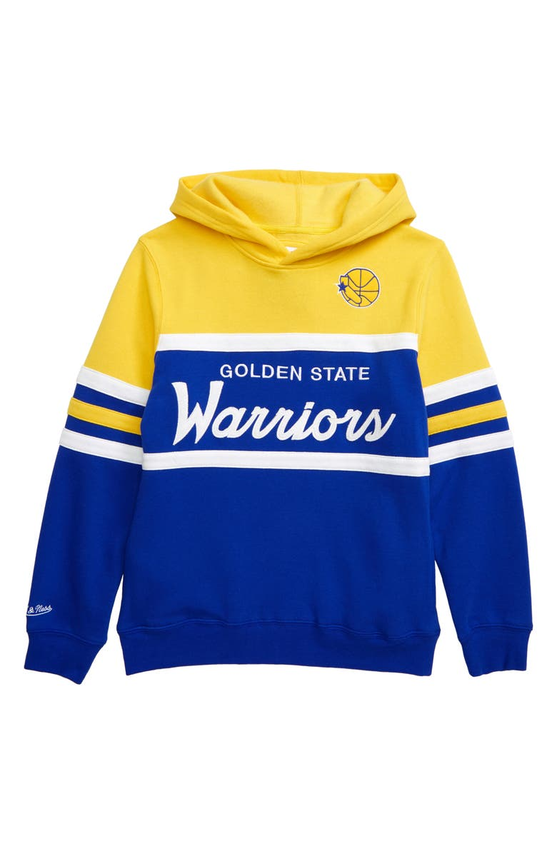 MITCHELL & NESS Golden State Warriors Head Coach Hoodie, Main, color, 700