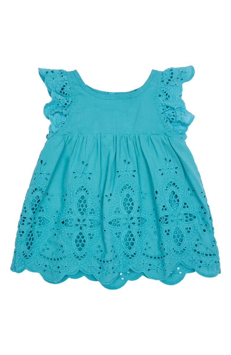 PEEK ESSENTIALS Michelle Eyelet Embroidered Dress, Main, color, 400